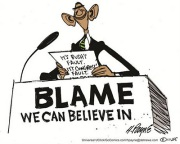 Cartoon - Obama blame game