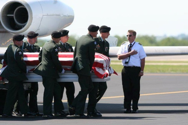 PFC Joel Ramirez carried home